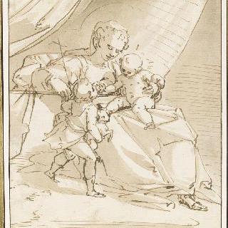 아기 예수, 어린 성 요한과 놀아주는 성모