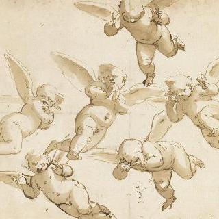 날아가는 여섯 명의 아기천사