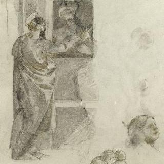 산타 마리아 델 카르미네에서 제작된 데생