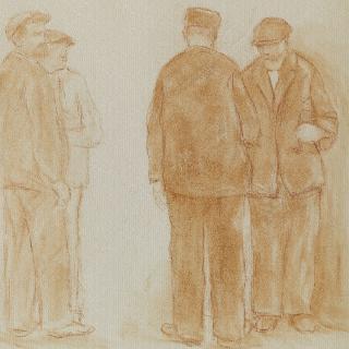 서 있는 네 명의 남자들