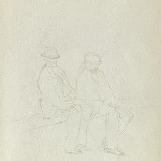 앉아 있는 두 명의 남자