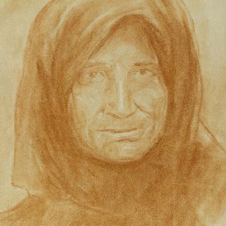 스카프를 맨 여인의 초상