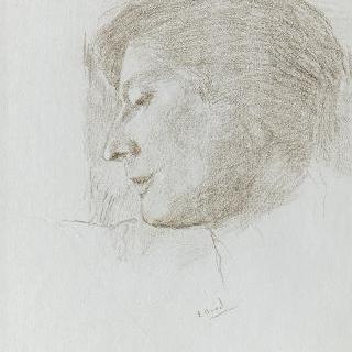여인의 옆얼굴 초상