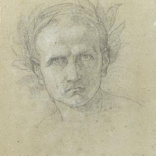 월계관을 쓴 나폴레옹의 얼굴