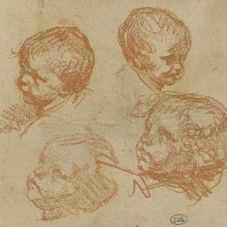 어린아이들의 4개의 얼굴