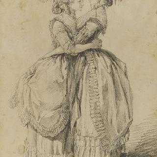 껴안고 있는 엘리자베스 공주와 마리 앙투아네트