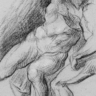미켈란젤로 작품을 모사한 두 남자의 습작
