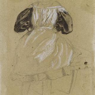 의자에 앉아 있는 기울라 벨렐리의 초상
