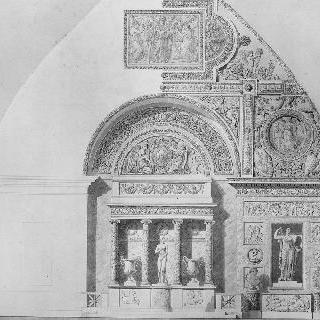 루브르박물관, 비너스 고대 전시관을 위한 입면도