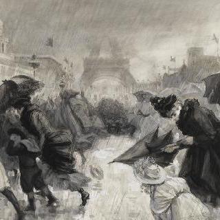 1900년 박람회를 찾은 방문객들