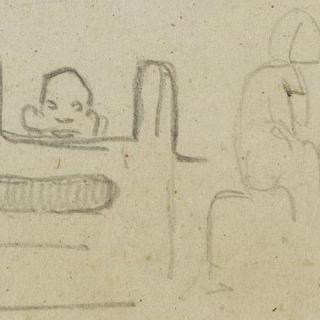 습작들 : 아라베스크와 얼굴들 ; 두 명의 원시적 인물들