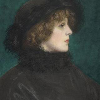 아를레트 바레인의 딸, 리안 부인의 초상