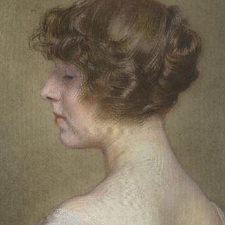 이본 바레인의 딸, 파브르 부인의 초상