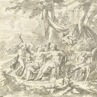 에로스로부터 관을 받는 비너스와 아도니스