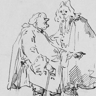 신사와 대화하는 성직자