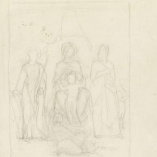 성 순교자와 주교에게 둘러싸인 성모와 아기 예수