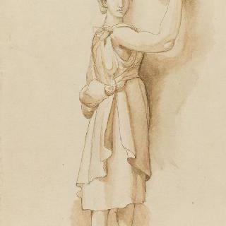 헬리오도르 양식의 기반이 있는 여인상 기둥