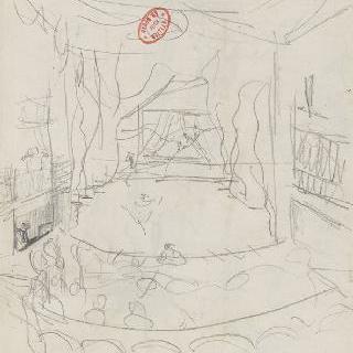 무대의 방의 내부