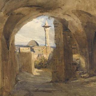 베이루트의 성벽 가운데 설치된 문