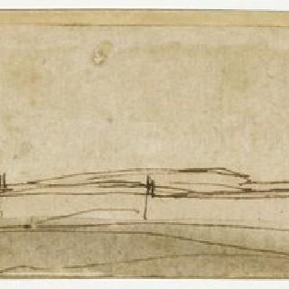 치비타 베키아의 요새와 도시의 전경