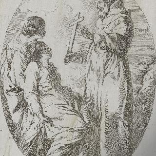 아픈 여인을 치료하는 성 프랑수아