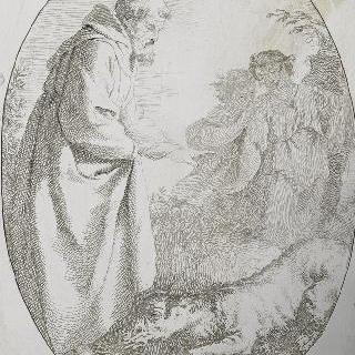 성 프랑수아에게 복종하는 늑대