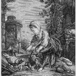 농가의 어린 소녀