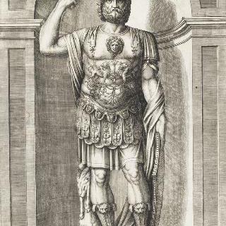 피루스의 고대 동상