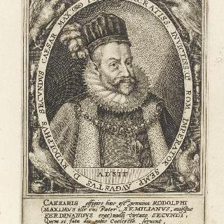 타원형 틀 안의 로돌프 2세, 1596년