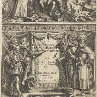 루이 13세의 초상과 파리의 전경
