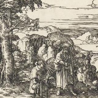 아들을 제물로 바치는 아브라함