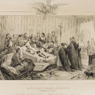 개봉된 나폴레옹의 관, 세인트헬레나 섬, 1840년 10월 16일