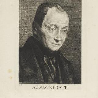 오귀스트 콩트의 초상, 오른쪽으로 3/4 정도 몸을 돌린 상반신