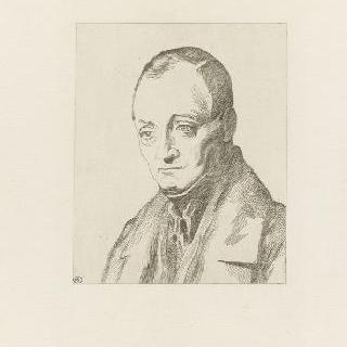 오귀스트 콩트의 초상, 왼쪽으로 3/4 정도 몸을 돌린 상반신