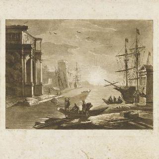 글레스고 미술관에 소장되었던 클로드 젤레의 회화의 모사작