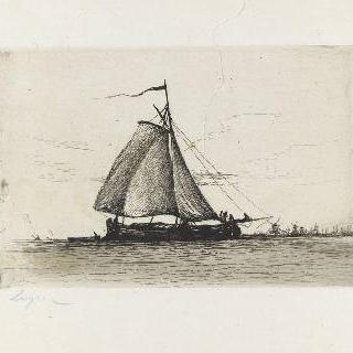 돛이 달린 작은 배