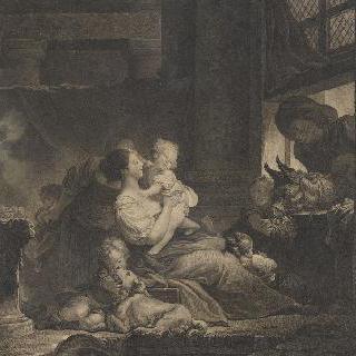 행복한 출산 (프라고나르 모사작)