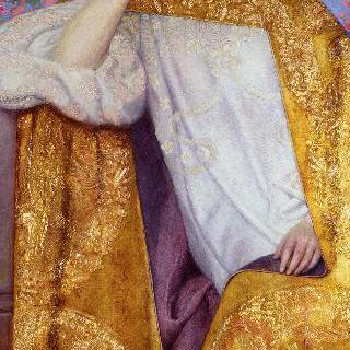 황금 드레스를 입은 여인의 초상