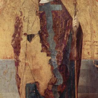 성 그레고리우스의 폴립티크 (여러 폭으로 된 제단화), 왼쪽 패널 : 성 그레고리우스