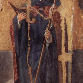 성 그레고리우스의 폴립티크 (여러 폭으로 된 제단화), 오른쪽 패널 : 성 베네딕토