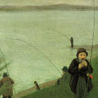 라인 강가의 낚시꾼