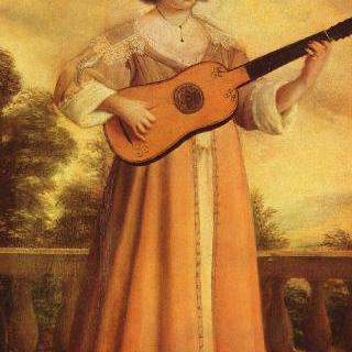 기타 치는 여자