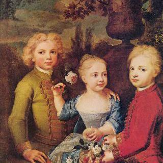 시의회 의원 바르톨트 하인리히 브로케스의 세 자녀들 (초상화)