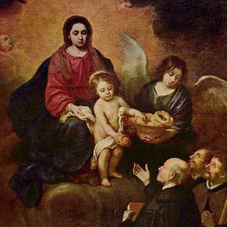 순례자들에게 빵을 나눠주는 아기 예수