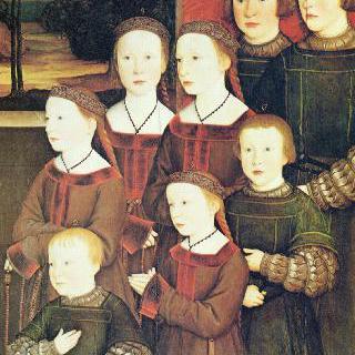 대 (大) 콘라트 렐링거와 그의 여덟 아이들, 우측 패널 : 콘라트 렐링거의 여덟 아이들