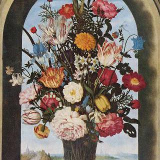 창틀에 놓인 꽃병