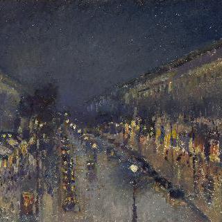 몽마르트르 대로, 밤 풍경