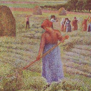 에라니 쉬르 엡트에서의 건초 수확