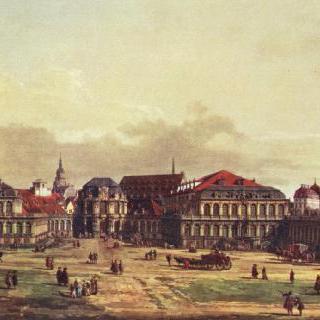 드레스덴 풍경, 성채에서 바라본 드레스덴의 츠빙거 궁전