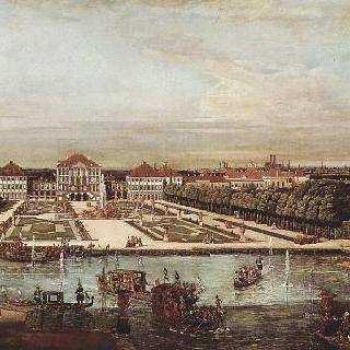 뮌헨 풍경, 서쪽에서 바라본 님펜부르크 궁